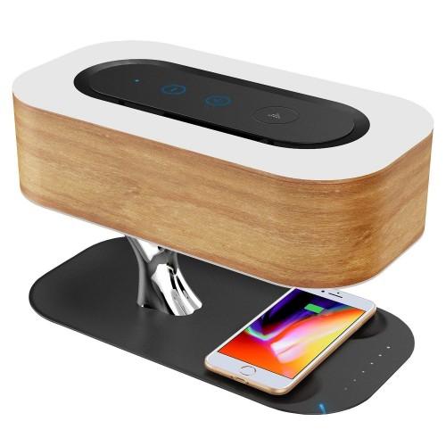 Ampulla Bedside Lamp Exclusive Edition. Лампа с Bluetooth-динамиком и беспроводным зарядным устройством