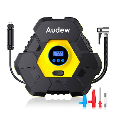 Портативный автомобильный компрессор. Audew Triangle
