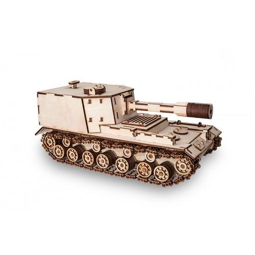 Eco Wood Art SPG Obj 212. 3D-конструктор танка САУ-212