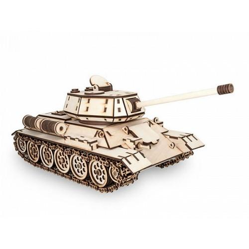Eco Wood Art T-34. 3D-пазл танк