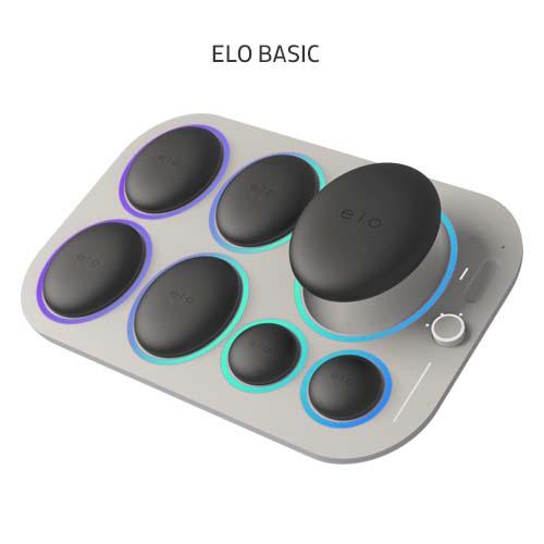 Набор базальтовых камней с нагревательным блоком для стоунтерапии. Elo Systems