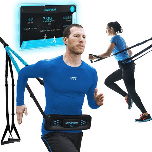 Портативный тренажер с эспандерами для бега. MoonRun CONNECT