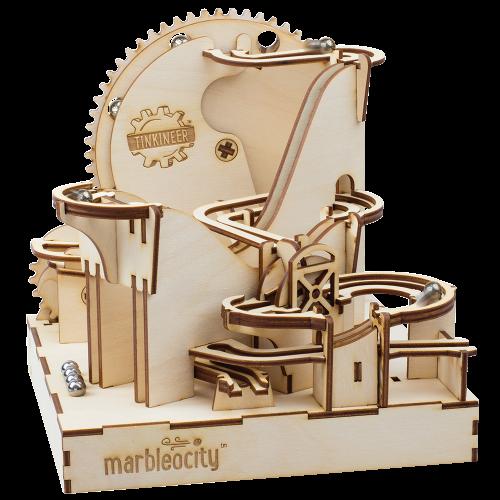 PlayMonster Marbleocity Dragon Coaster. Деревянный конструктор STEM