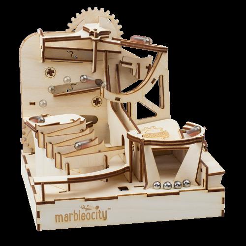 PlayMonster Marbleocity Skate Park. Деревянный конструктор STEM