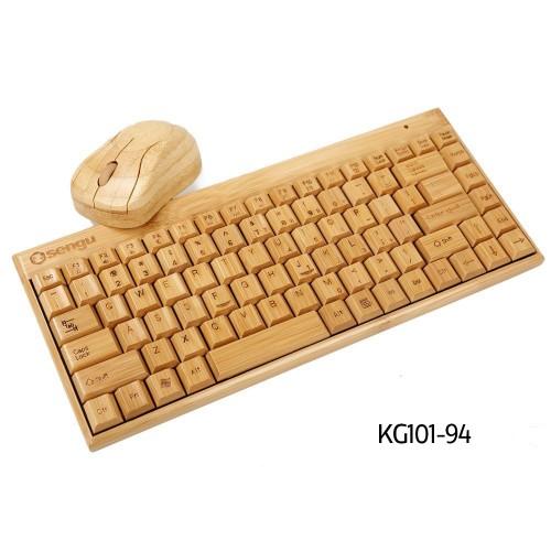 Бамбуковая клавиатура и мышка. Sengu Keyboard and Mouse